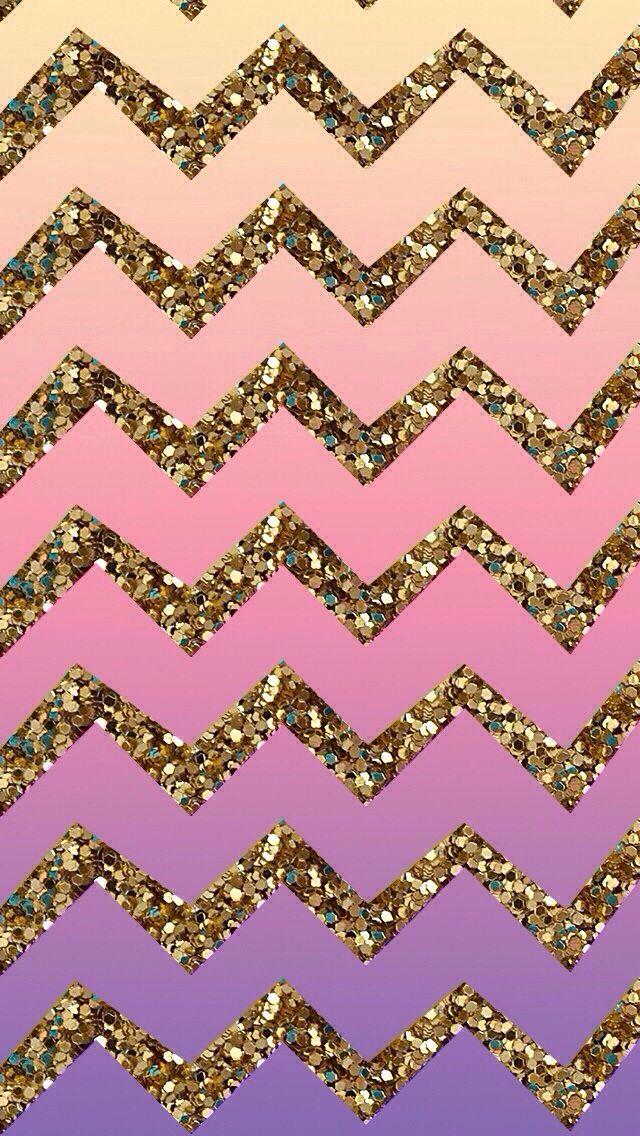 Chevron Glitter Htctokok Infinityhu Ipod Wallpaper Gold