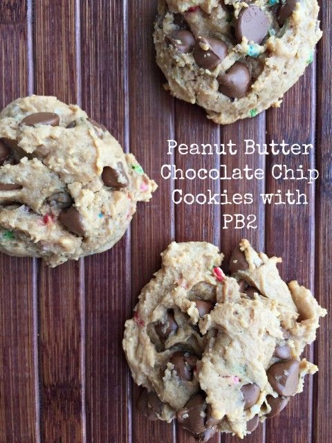 Peanut Butter Chocolate Chip Cookies with PB2