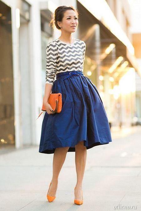 Мода на юбку миди