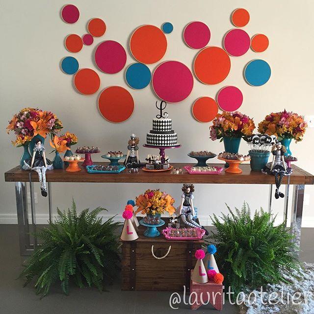 WEBSTA @ lauritaatelier - Festinha caseira... feita com todo amor para uma pequena grande comemoração em família... Bolo e doces deliciosos, lindos de morrer da minha amiga querida Andrea Villela da @santocacau e as bonecas mais lindas que já ví, feitas por uma amiga querida especialmente pra nós... Que trabalho impecável Drika @drikademoura !!!! #lauritaatelier #festademenina #festapalhacinhas #festacolorida