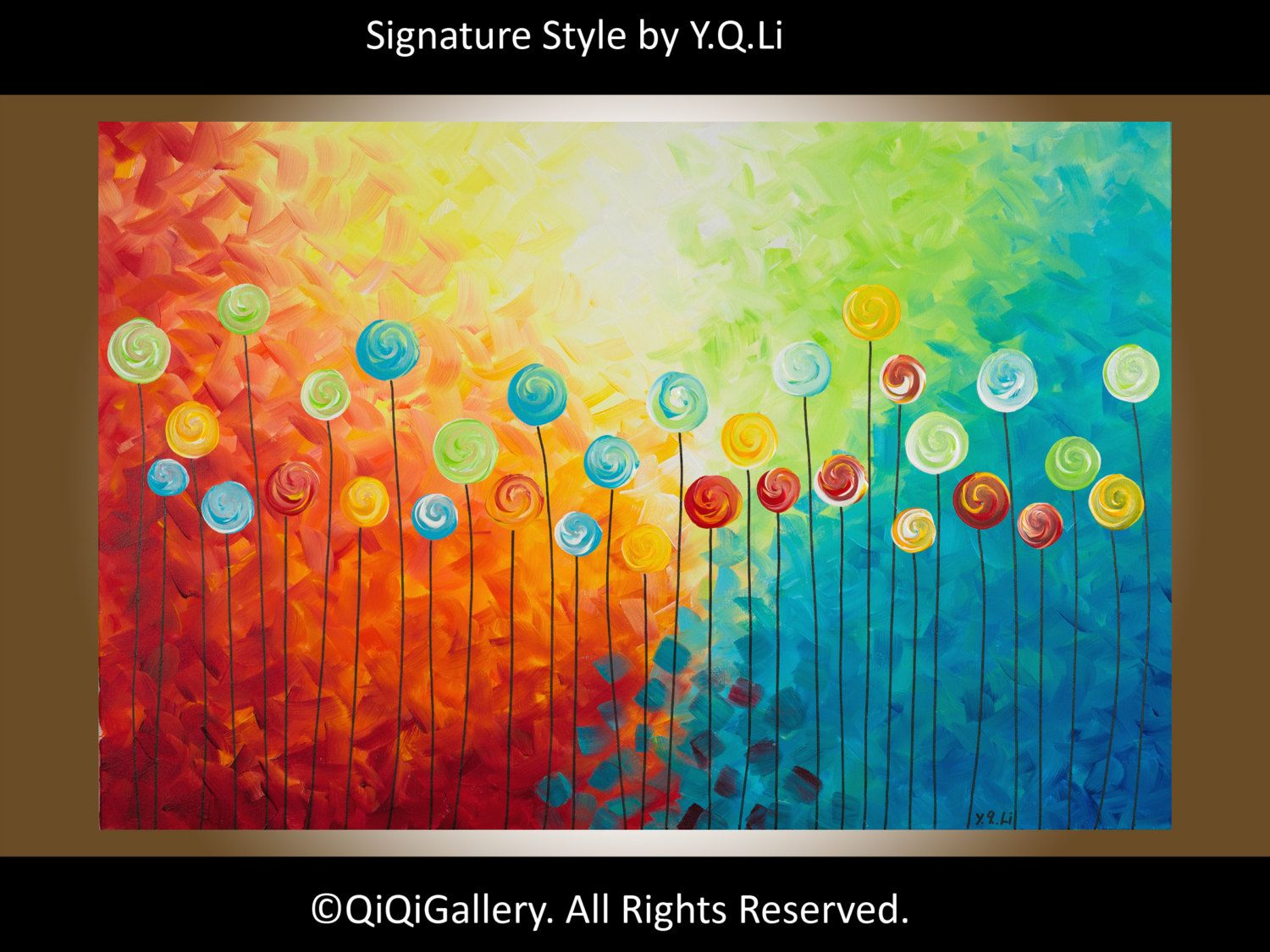 Art Abstract Painting Landscape Painting Original by QiQiGallery, $295.00
