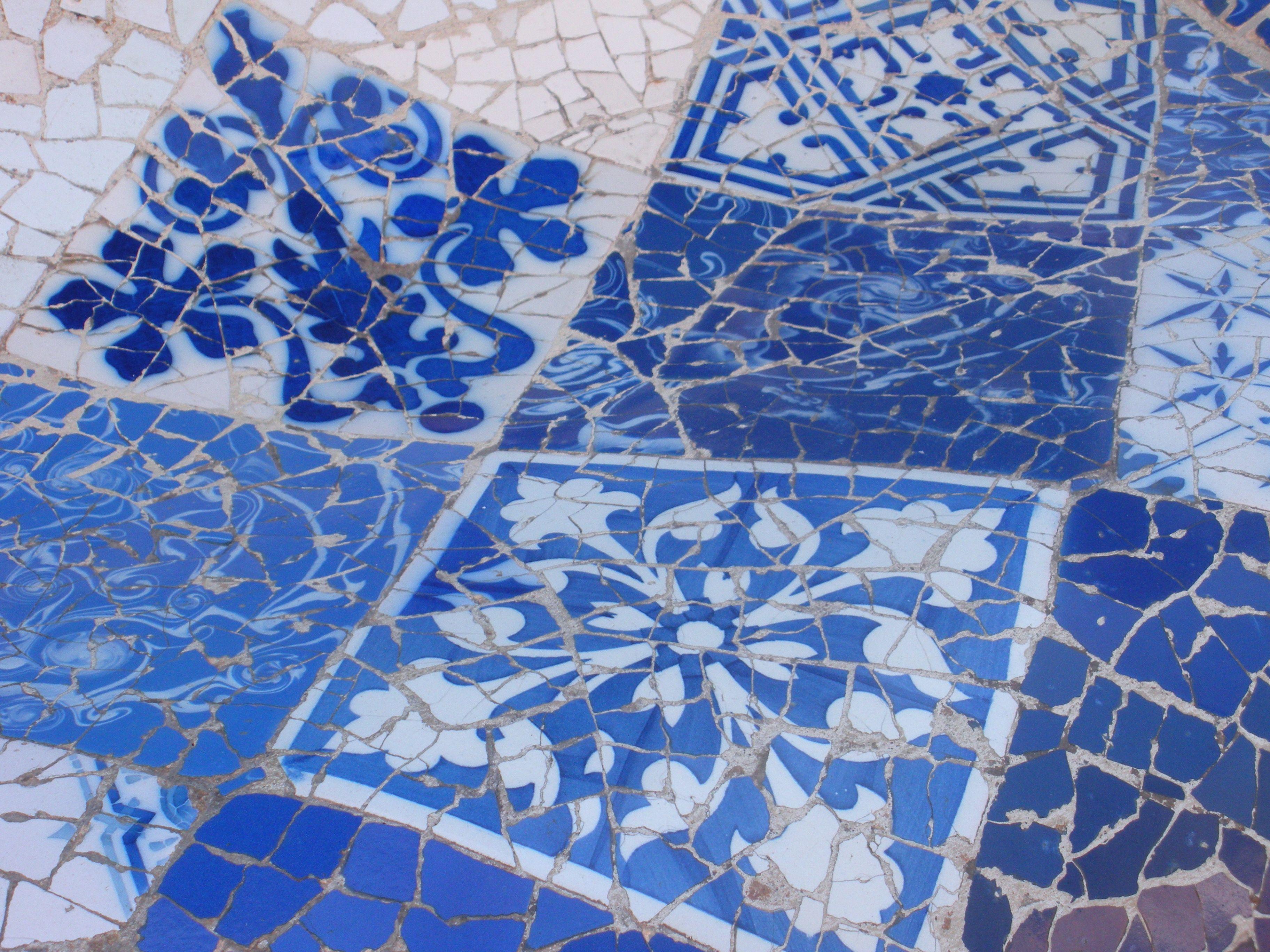 Tiles, Barcelona, Catalonia, Spain by Antoni Gaudí ...