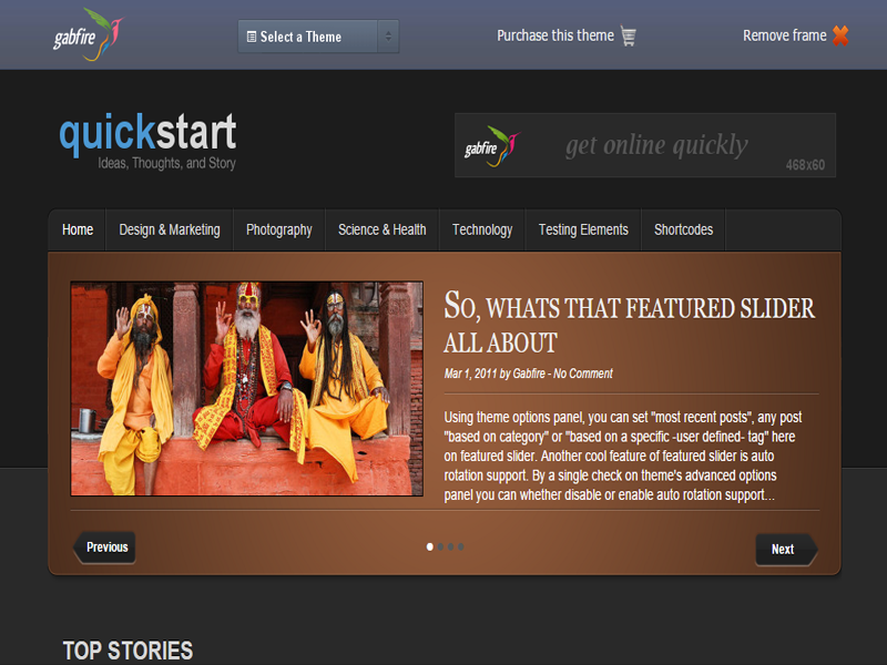 QuickStart is a WordPress magazine theme for the quick launch of a ...