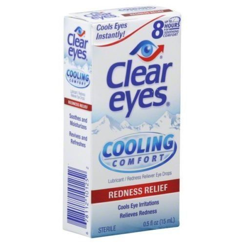 Clear Eyes Cooling Comfort Redness Relief Eye Drops 0 50 Oz Clear Eyes Redness Eye Drops