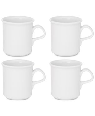 Dansk Cafe Blanc Mugs Set Of 4 White Dinnerware Dansk Mugs