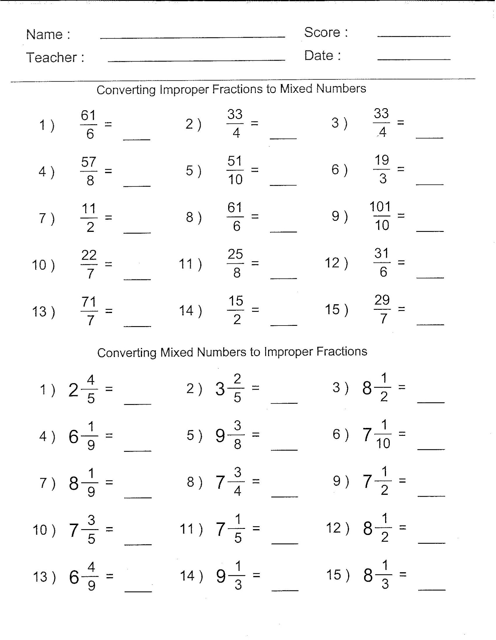 7 Official Math Worksheets For Grade 6 In