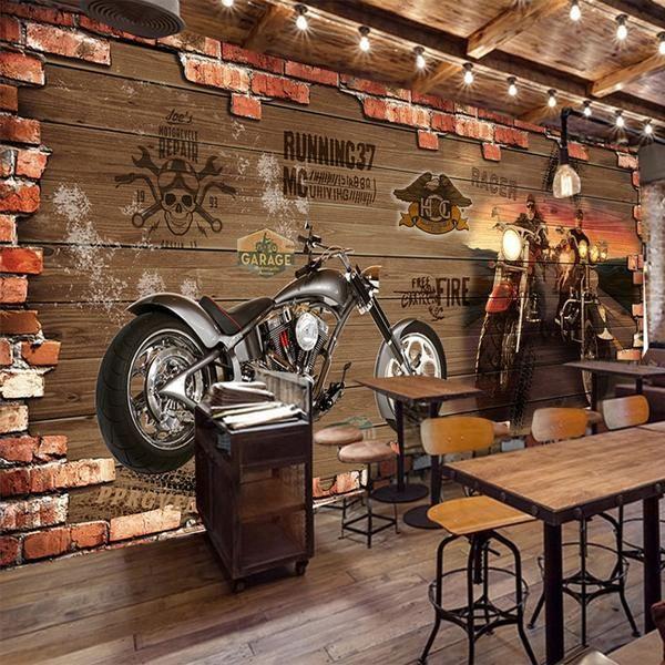 Mural Wallpaper, Motorcycle