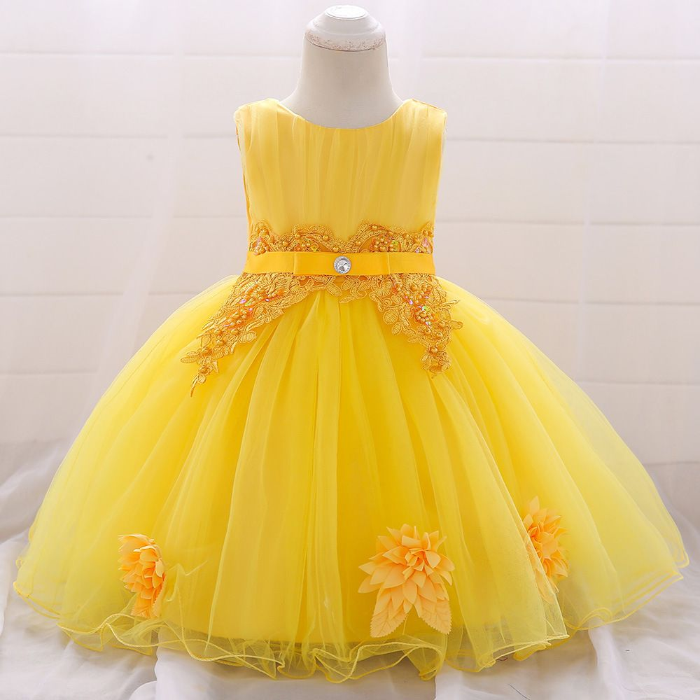 6befe14d20a55 New Baby Girls Dress Size 3 6 9 12 18 24 Months Flower Red White ...