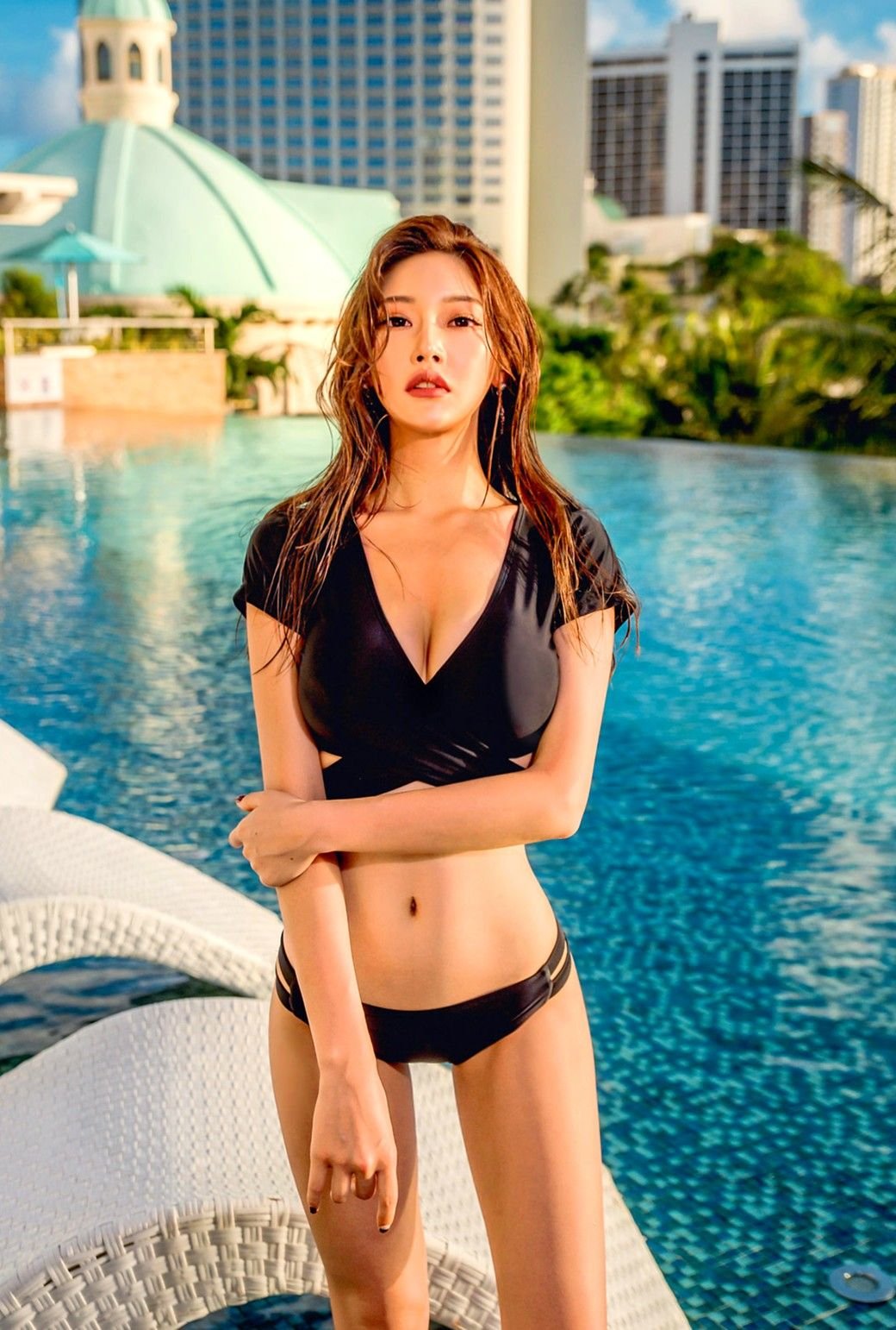 19c6163391 Korea Fashion, Bikini Swimwear, Swimsuits, Bikinis, Asian Beauty, Korean  Beauty,