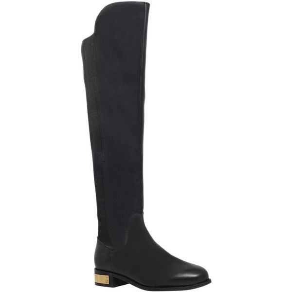 Thigh high suede boots, Leather