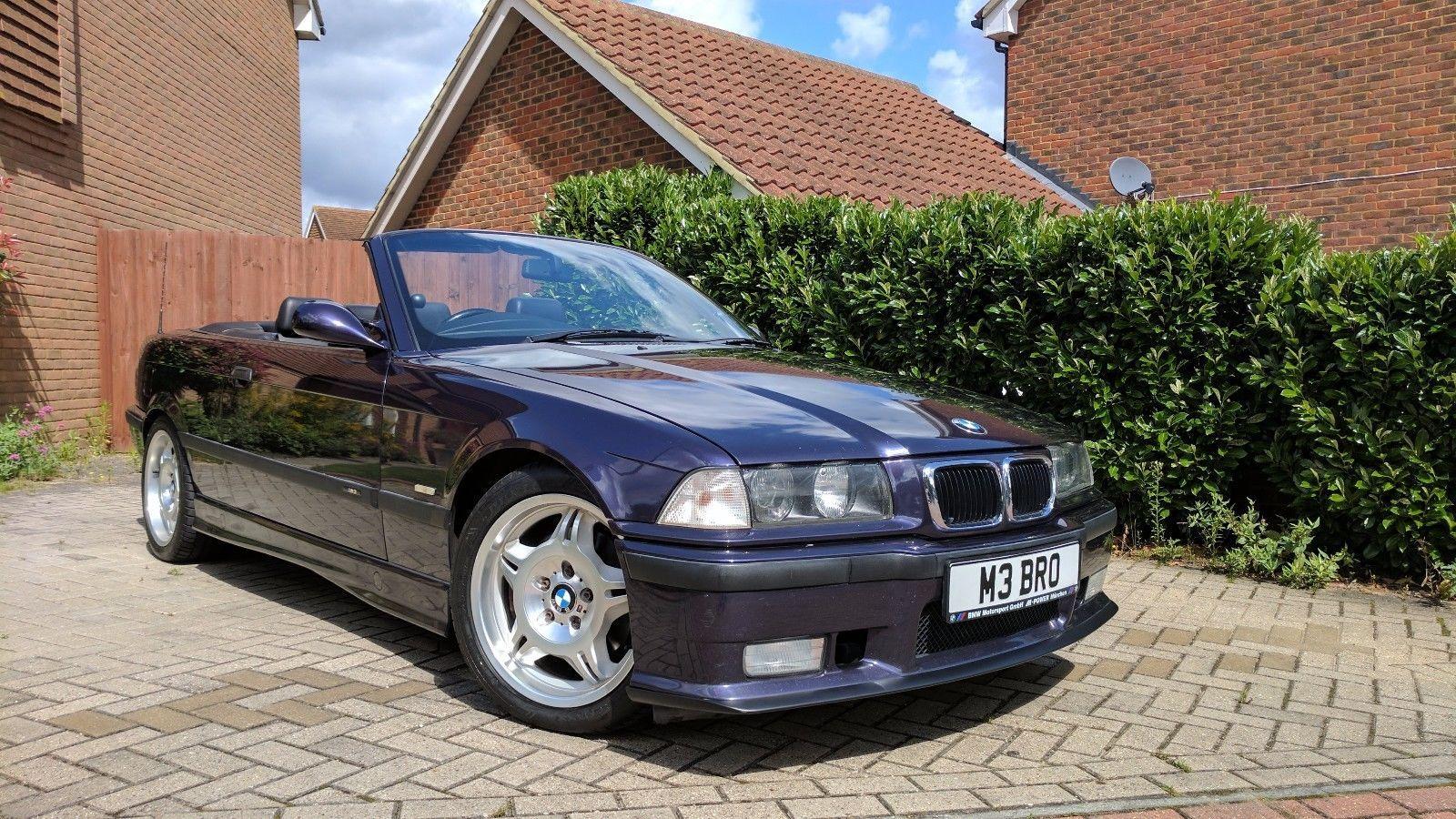 bmw m3 e36 evo cabriolet convertible techno violet fsh vgc hardtop 1998 cabrio [ 1600 x 900 Pixel ]