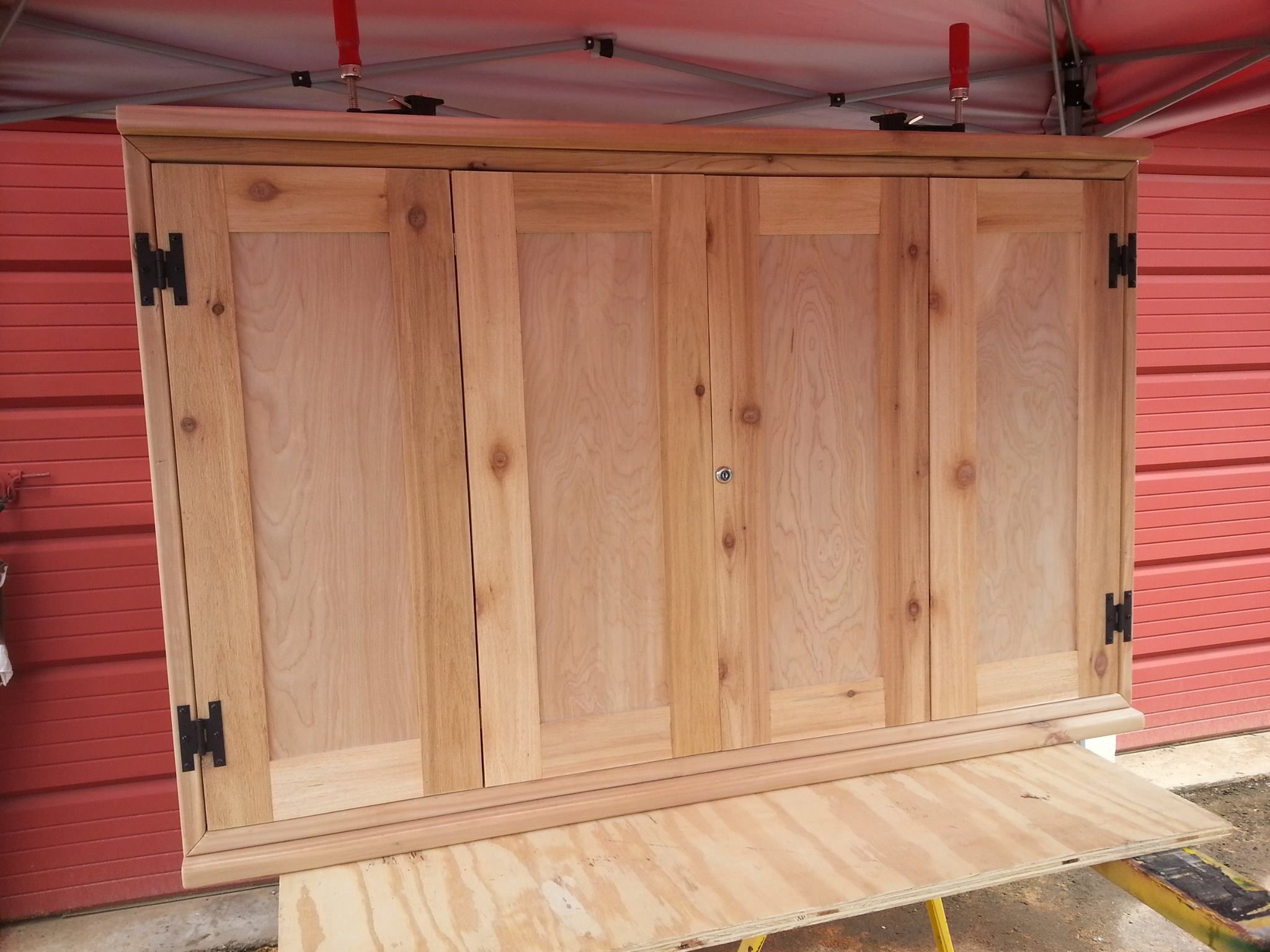 Exterior Tv Cabinet I Did For A Customer Kreg Jig Made Quick Work Of The Doors Marc B Outdoor Tv Cabinet Woodworking Plans Tv Tv Cabinet Diy