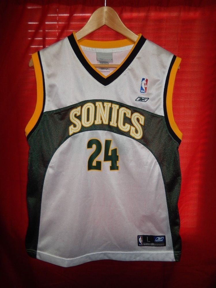 57f3dc859565 Desmond Mason Seattle Sonics Reebok Jersey NBA Basketball Youth Large   Reebok  SeattleSupersonics