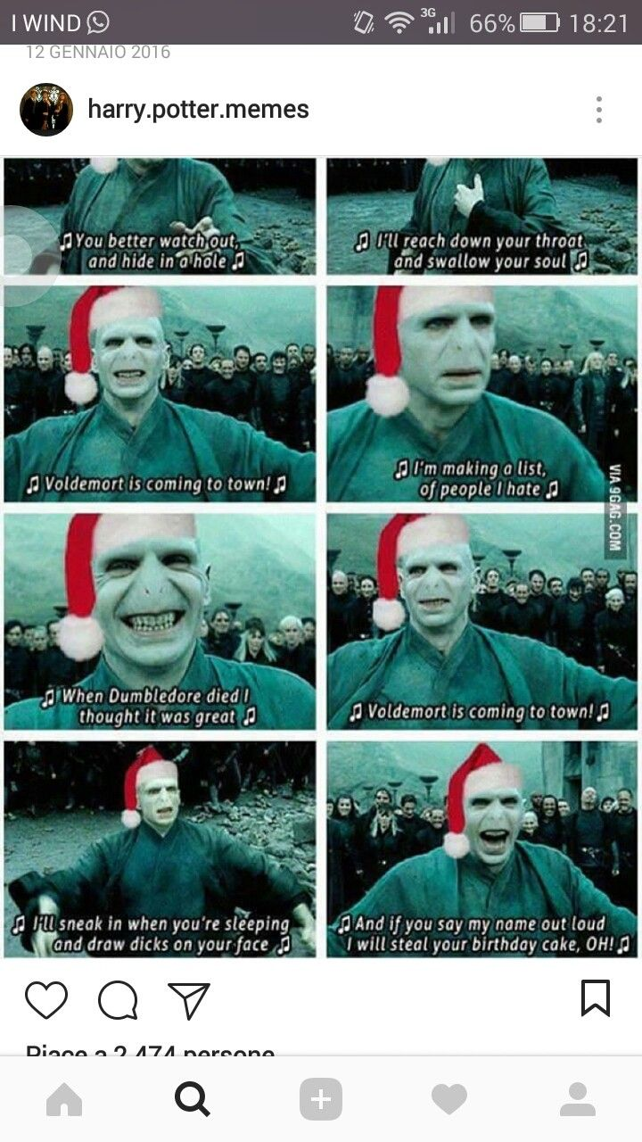 Voldemort Is Coming To Town Harry Potter Memes Hilarious Harry Potter Puns Harry Potter Song