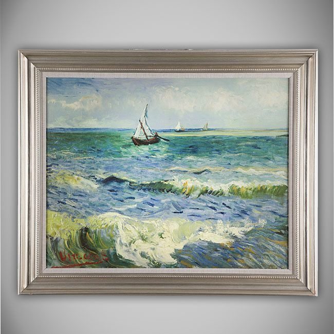 Vincent Van Gogh Seascape At Saintes Maries Canvas Art