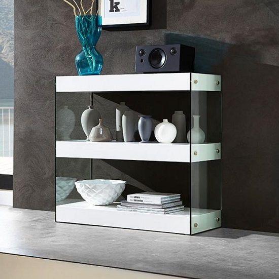 Caspa Bookshelf 1 Shelf In Matt White And Glthe Range Is A Clically German Manufactured Slick Stylish With Contemporary Furniture