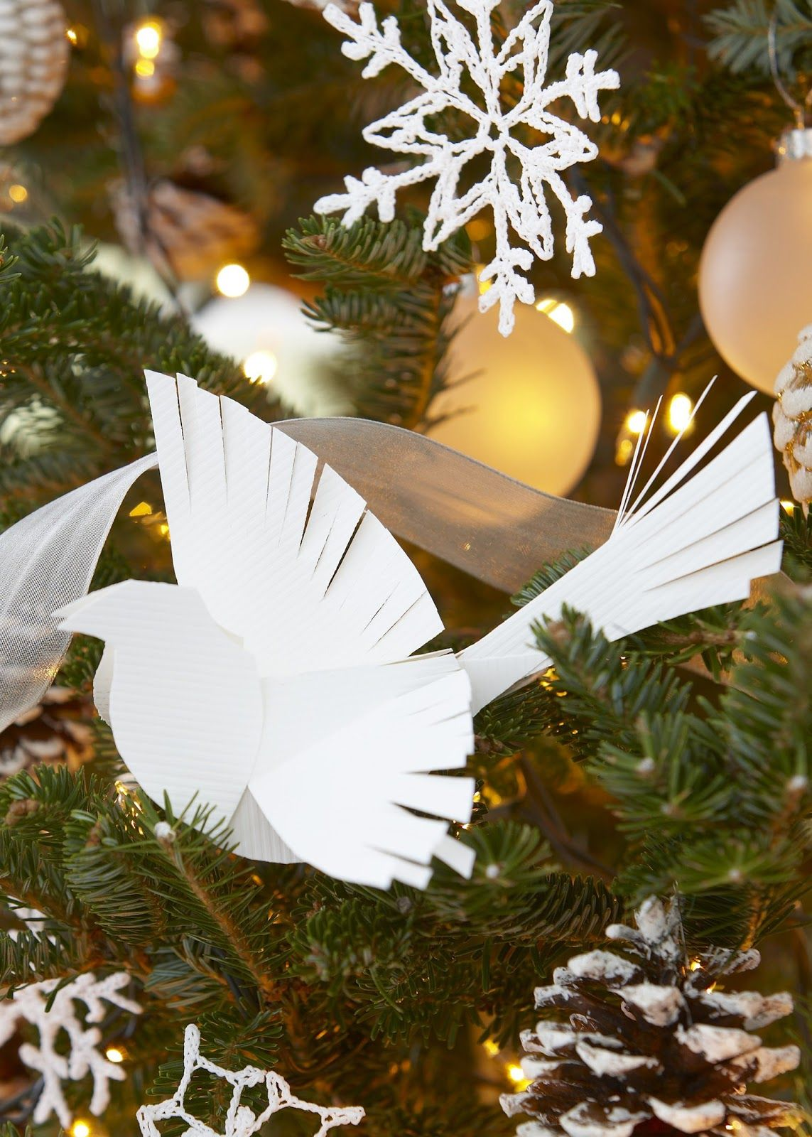 12 day countdown making a paper bird ornament paper birds ornament jeuxipadfo Choice Image