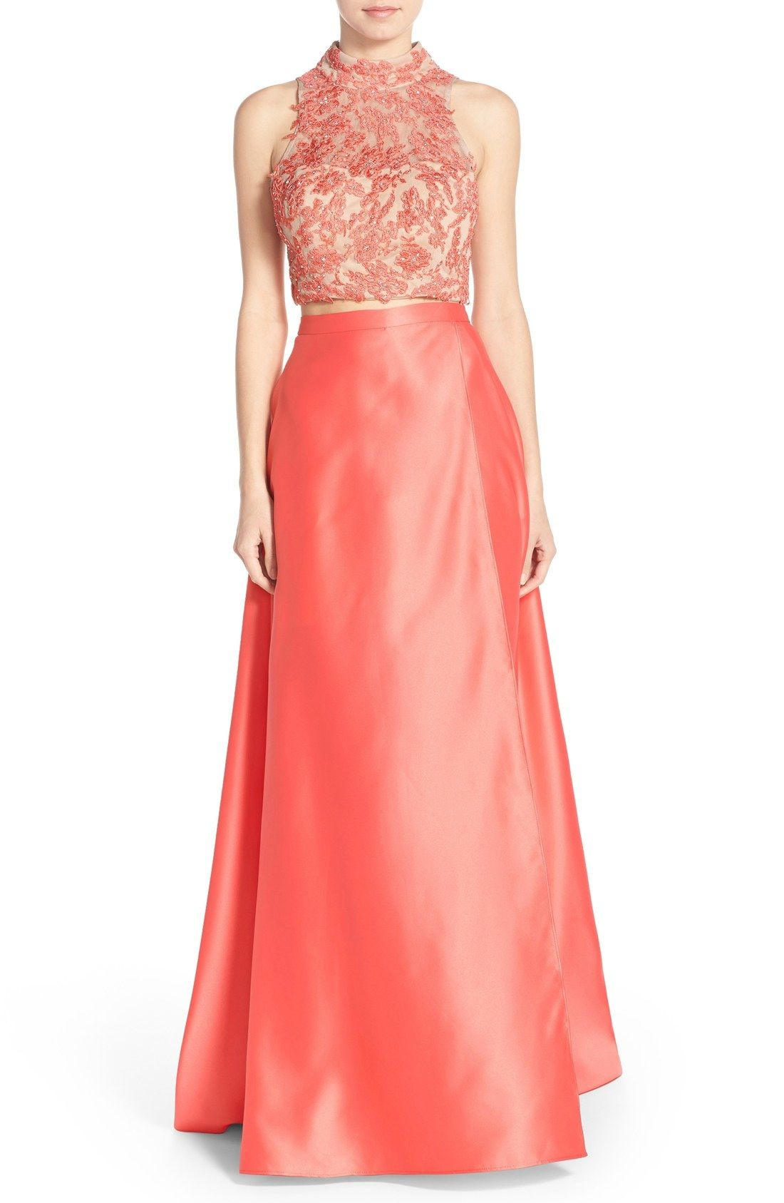 Xscape embellished satin twopiece ballgown available at nordstrom