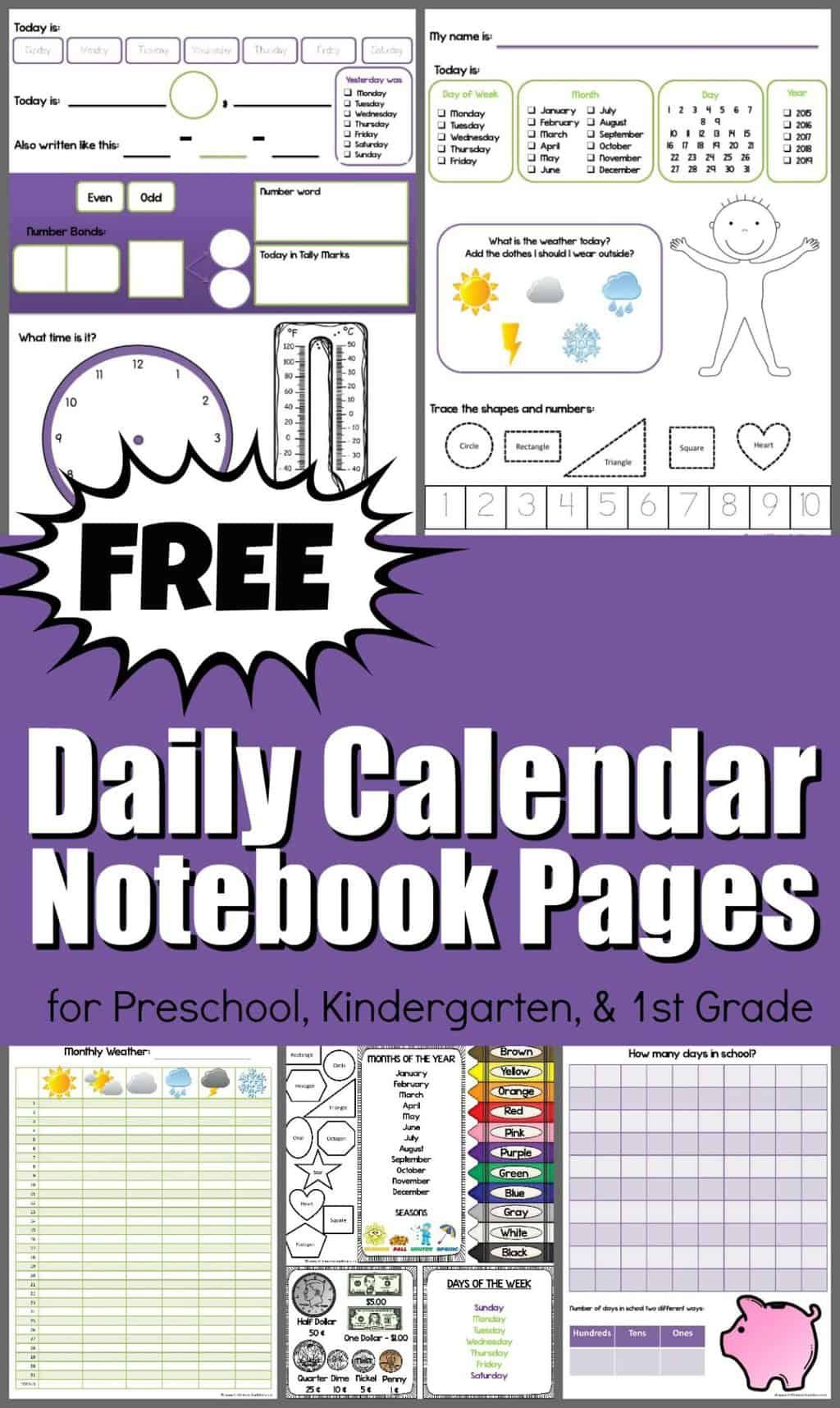 Free Daily Calendar Notebook In