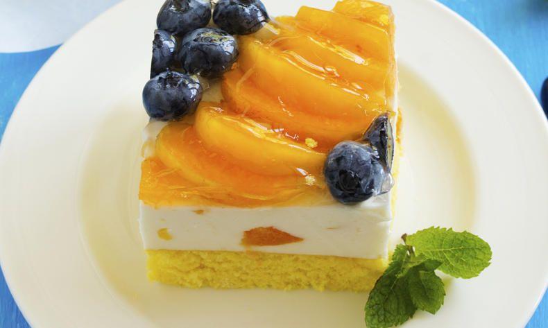 Jogurtové řezy s ovocem s nízkým obsahem laktózy