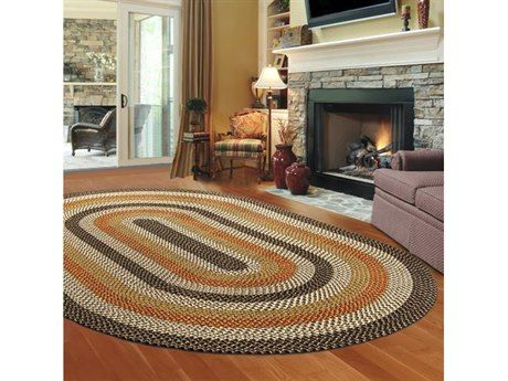 Thorndike Mills Green Mountain Log Cabin Brown Area Rug Green