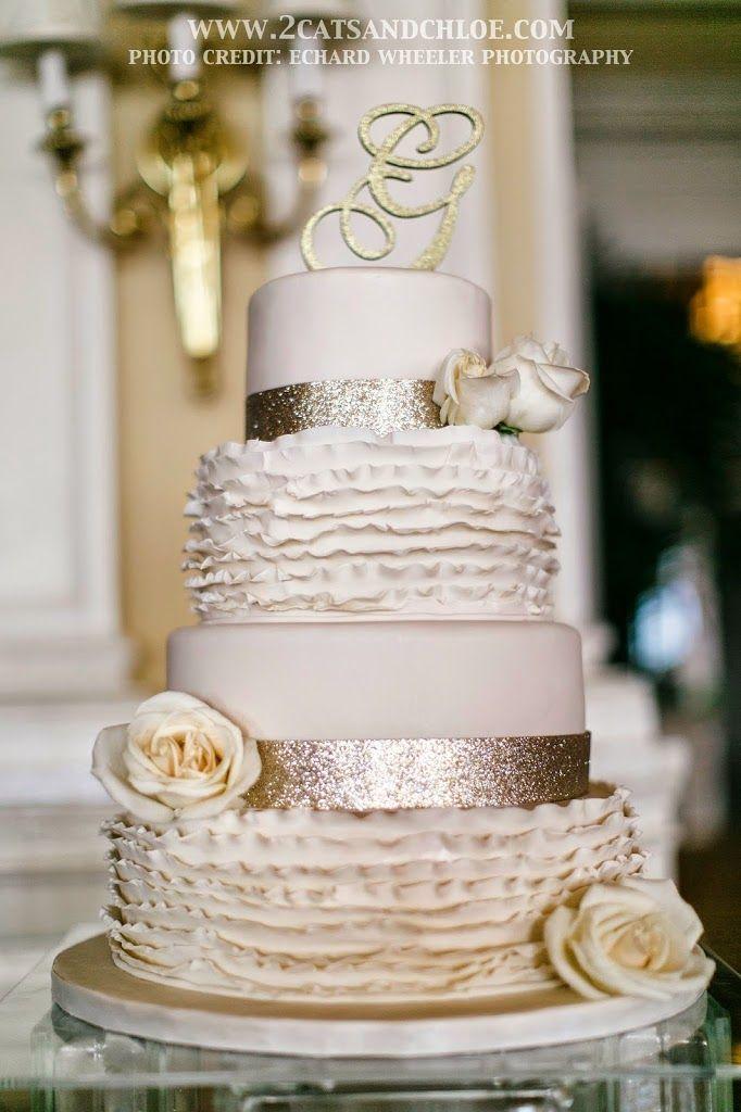 Glam Glitter Wedding Cake