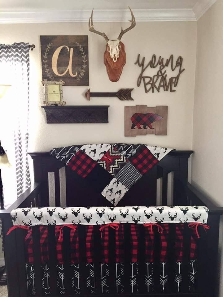 Buffalo Plaid Bedding Baby Boy Cribs