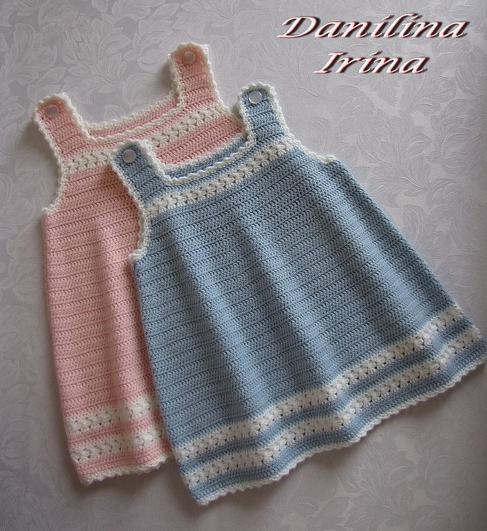Crochet baby pinafore dress | Crochet | Pinterest | Häkeln für baby ...