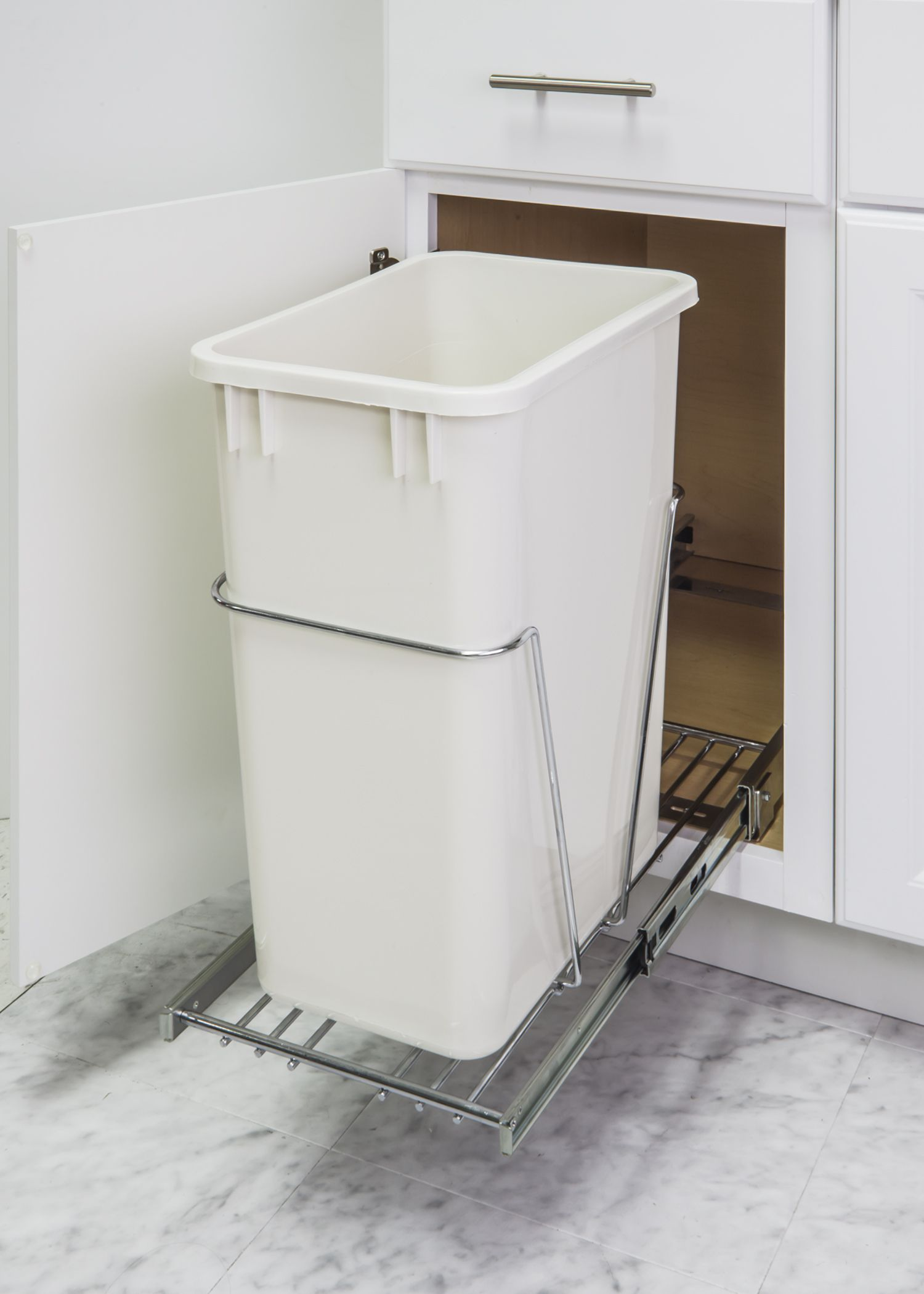 Organize Your Kitchen In 11 Minutes Or Less Easy Install Pullout Trash Can.  Cans Sold Separately. Installs With 4 Screws. Photos By Hardware Resources