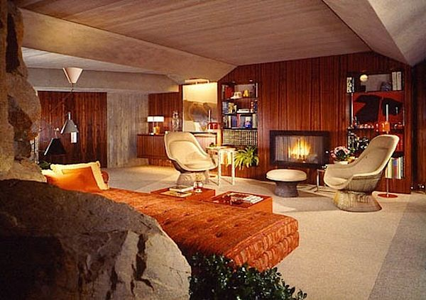 Vintage Interior Design · Designed By John Lautner In 1968, The Elrod House  In Palm Springs Was Used As
