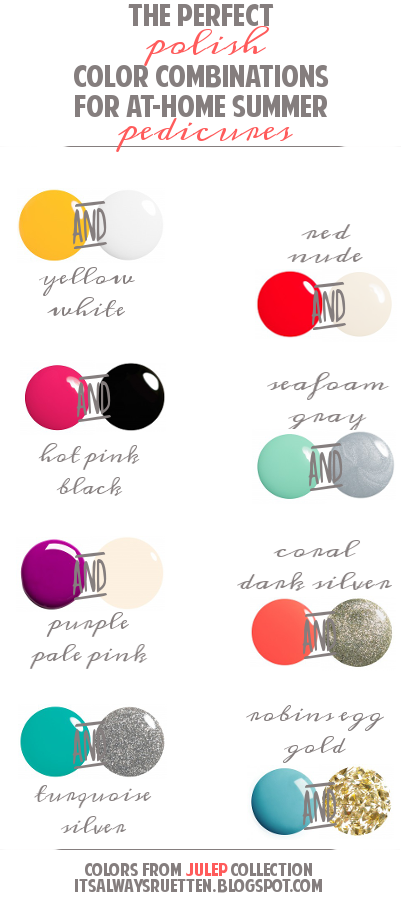 The Perfect Polish Color Combinations For At Home Summer