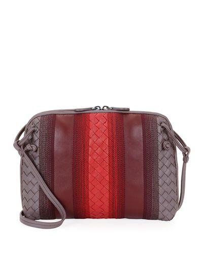 27f5bad2c BOTTEGA VENETA Striped Leather Pillow Bag, Blue/Brown. #bottegaveneta #bags  #shoulder bags #leather #