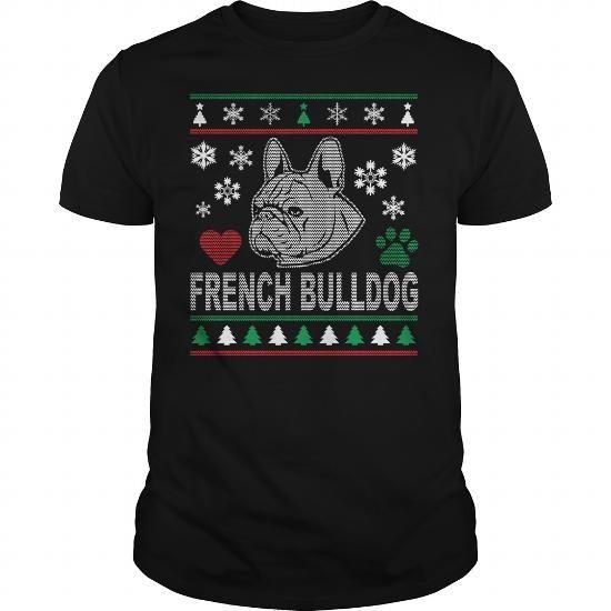 Names French Bulldog Christmas Design T shirts