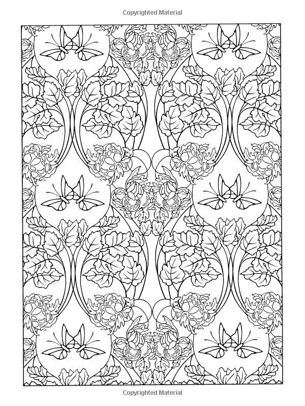 Amazon.com: Art Nouveau Patterns (Dover Design Coloring Books ...