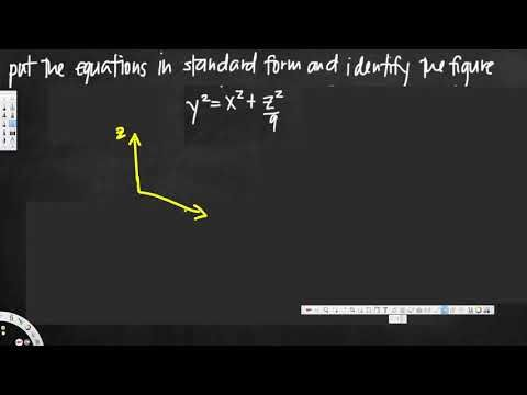 Reducing A Quadric Surface Equation To Standard Form Vector
