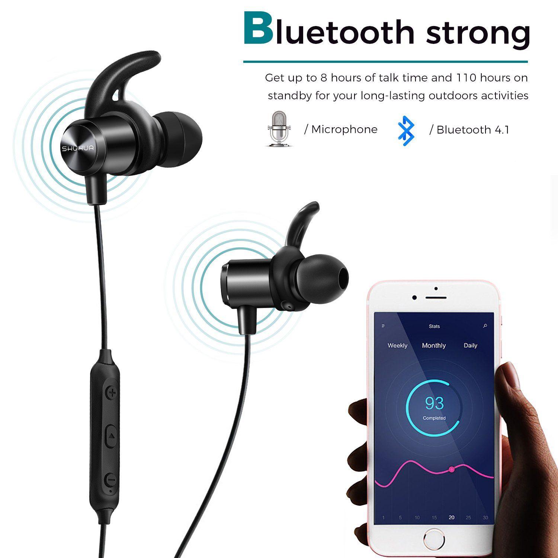 Bluetooth Headphones SHUHUA Sports Wireless Earbuds InEar