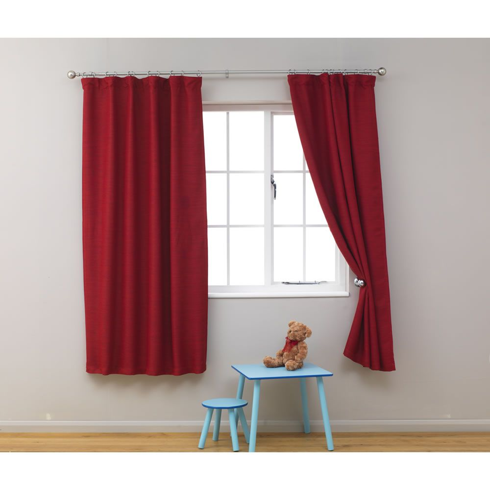Kids Blackout Curtains 66in x 54in Red at wilko.com | Boys bedroom ...