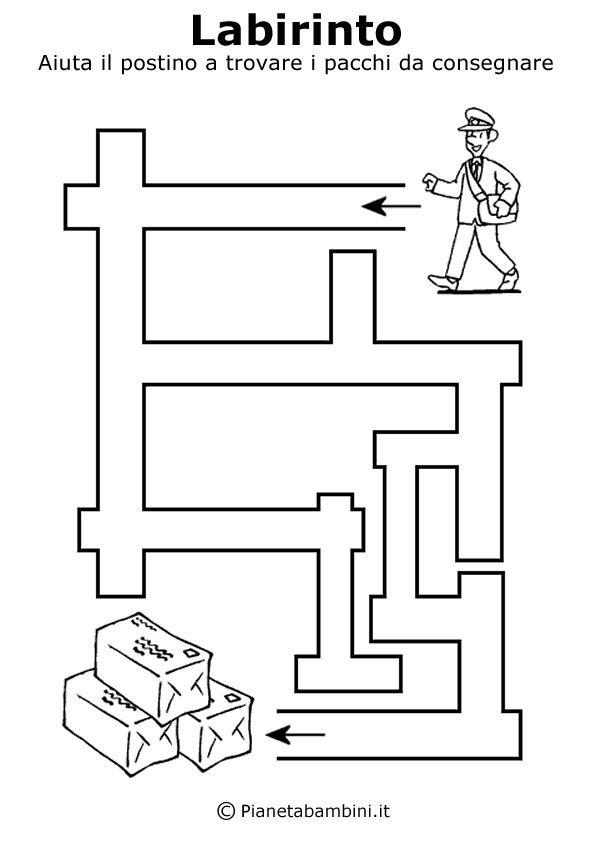 Labirinti Da Stampare Per Bambini Di 5 Anni Circa Iskolai és