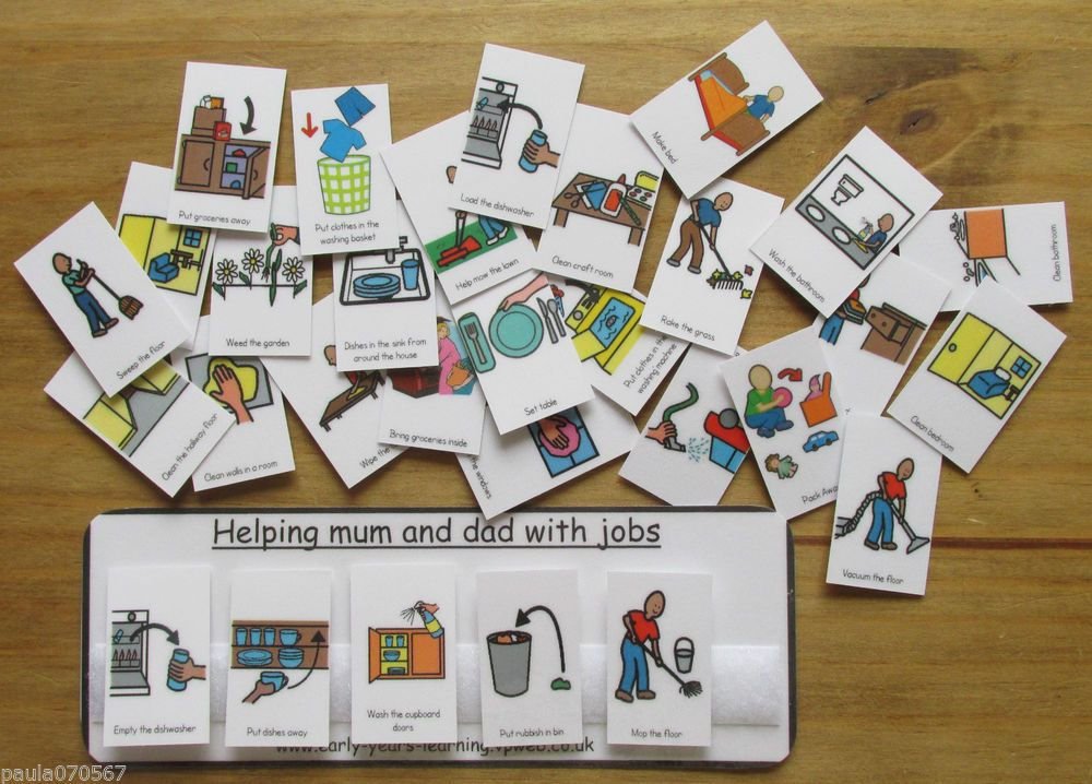 Helping and toilet pecs with velcro & boards  ~ Autism ~ASD~SEN~Schools~Home use