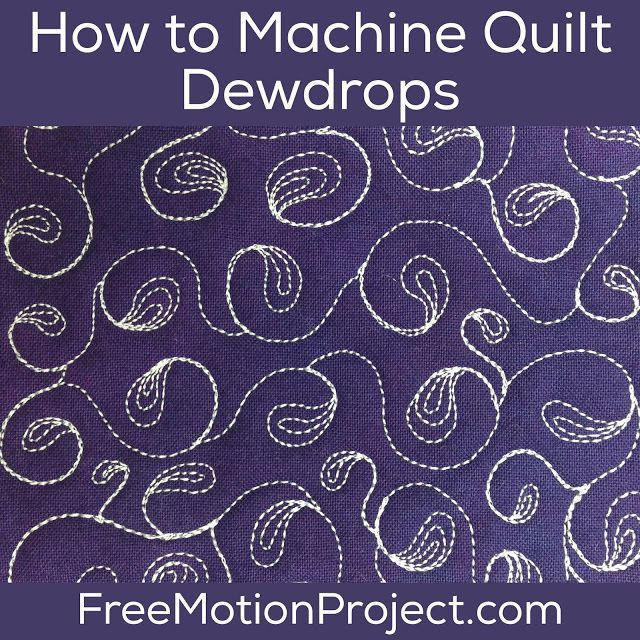 How To Machine Quilt Dew Drops 463 Free Motion Quilting Project With Leah Day Free Motion Quilt Designs Free Motion Quilting Machine Quilting