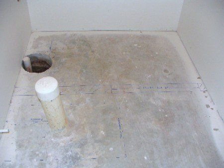 Basement Bathroom Plumbing Rough-in: Floor Blueprint ...