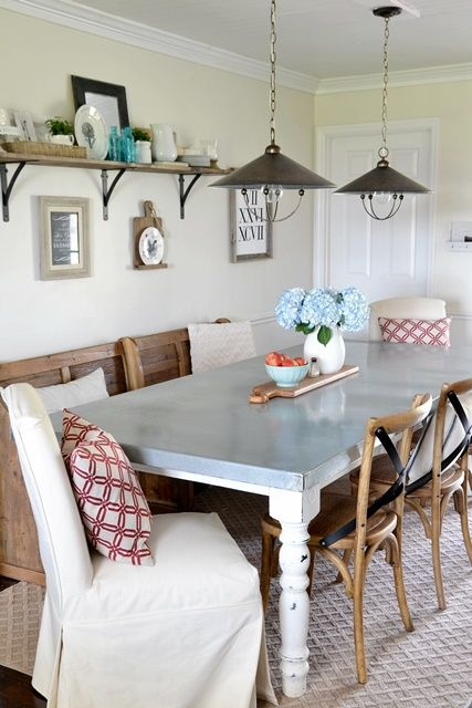 Wondrous Dining Area Makeover Reveal Dining Farmhouse Dining Room Machost Co Dining Chair Design Ideas Machostcouk