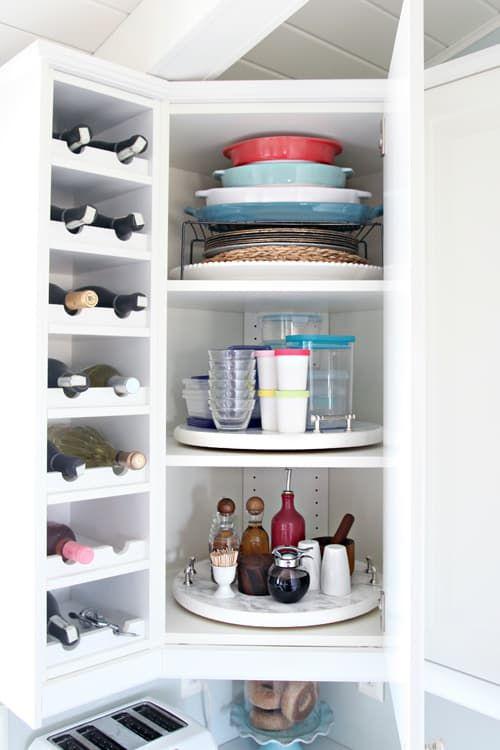 16 Genius Ways To Organize Kitchen Cabinets #organizekitchen