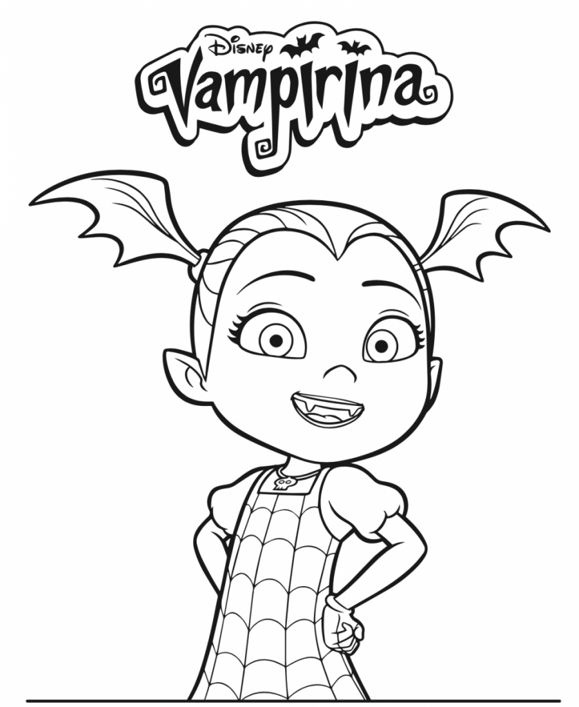 Free printable vampirina coloring pages 10 pages