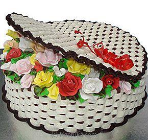Kapruka Basket Of Roses Cake