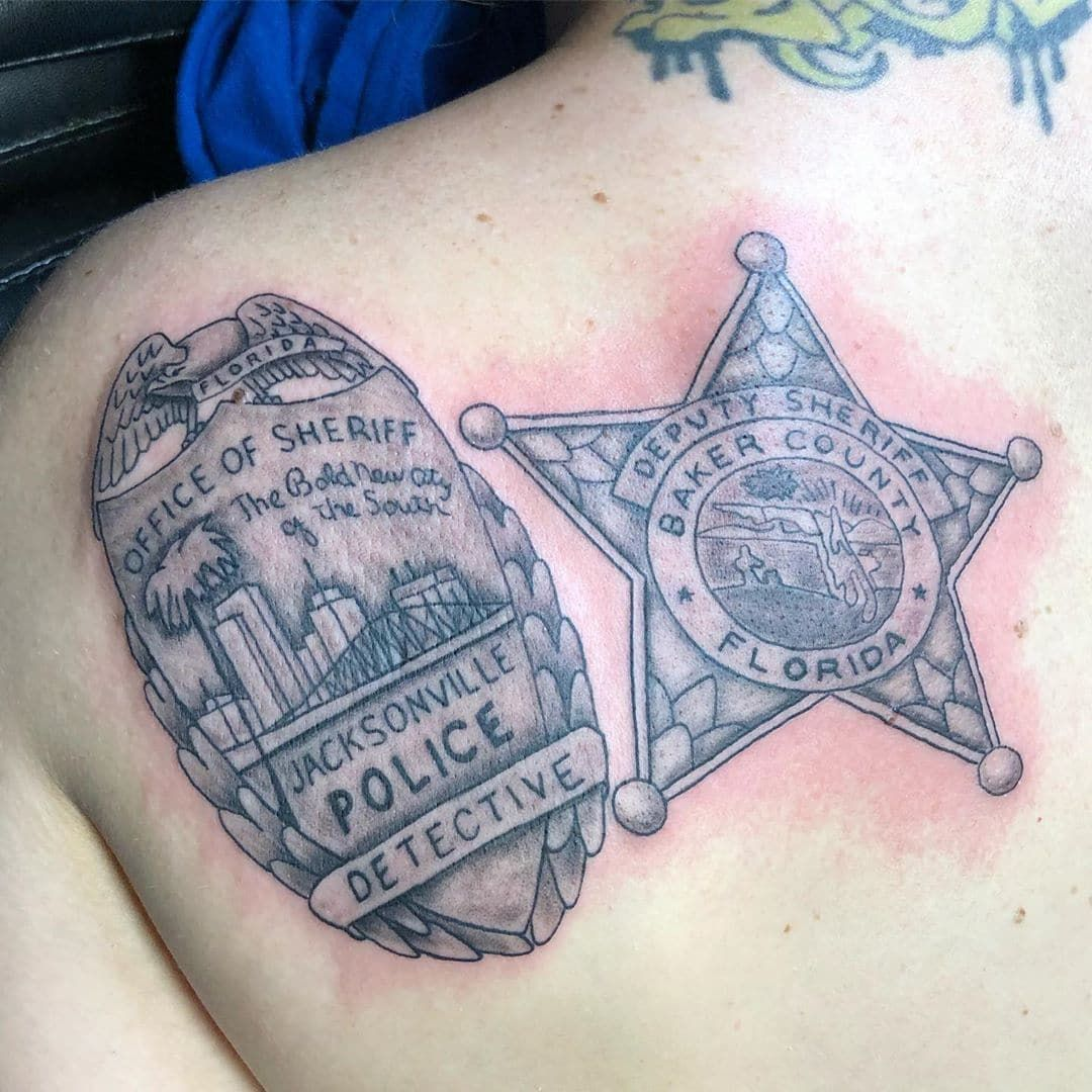 101 Amazing Police Tattoo Ideas You Need To See Police Tattoo Tattoos Law Enforcement Tattoos