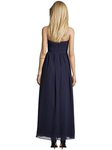 JAKES-COCKTAIL Abendkleid mit gelegten Falten in Blau ...