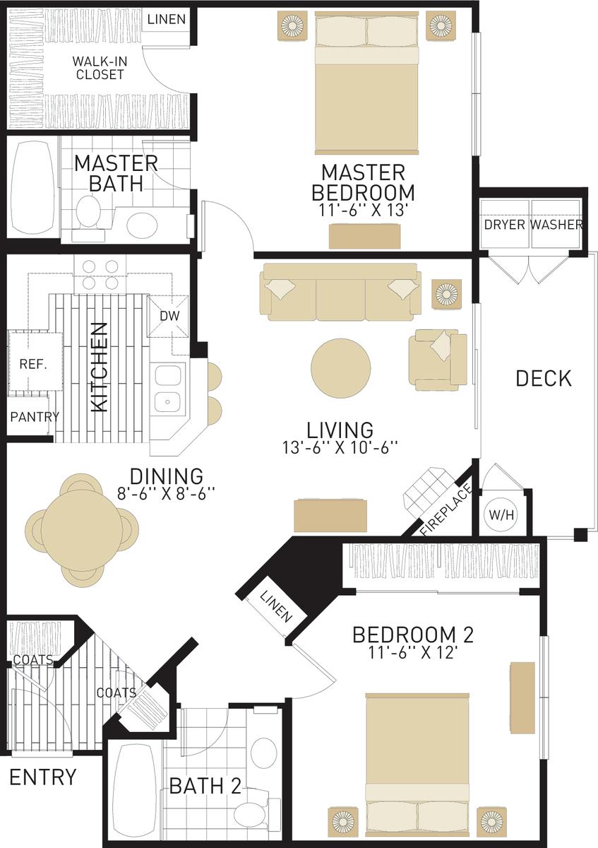 Rancho Monterey Apartments In Tustin Ca Irvine Company Bedroom Studio Apartment Tustin