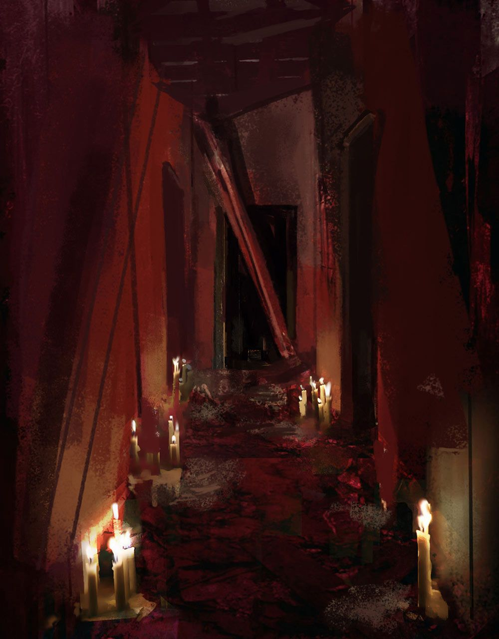 Bloody Hallway Chronicles Of Darkness Art
