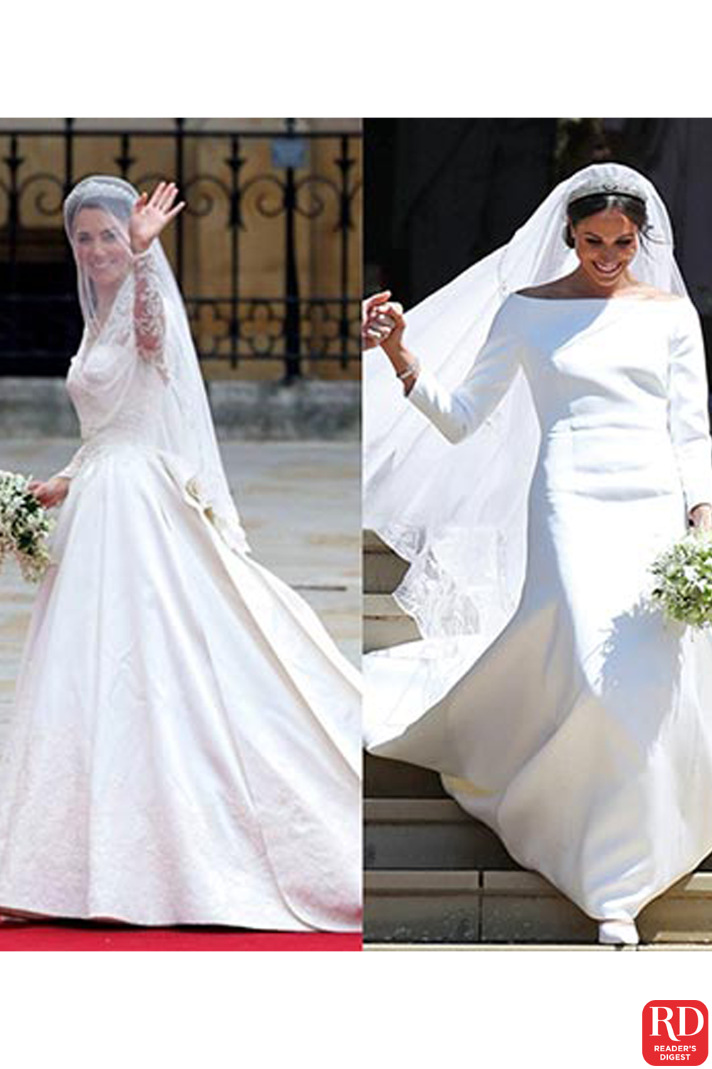 The Fragrances Queen Elizabeth Princess Diana Kate Middleton And Meghan Markle Wore On Their Wedding Days Wh In 2020 Princess Diana Kate Middleton Beautiful Bride